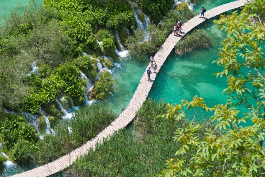 Wandering around Plitvice Lakes National Park is one of the best things to do in Croatia