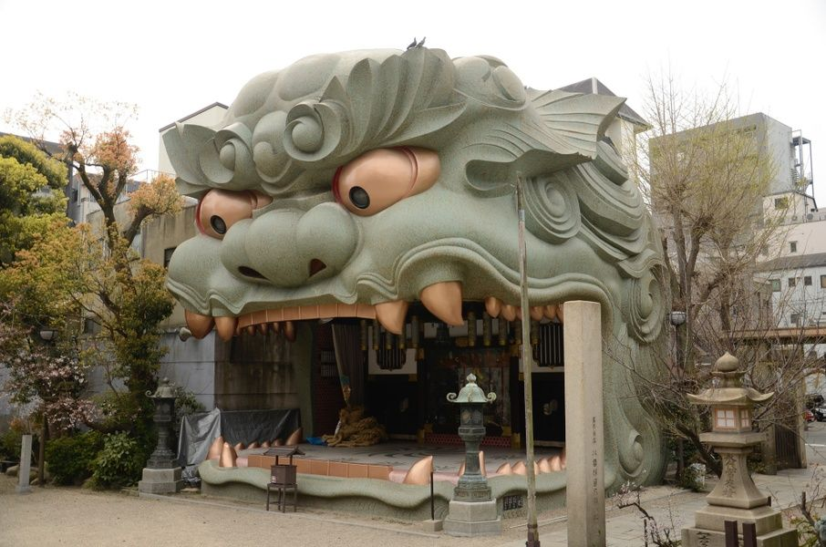 Namba Yasaka Shrine in Osaka, Japan