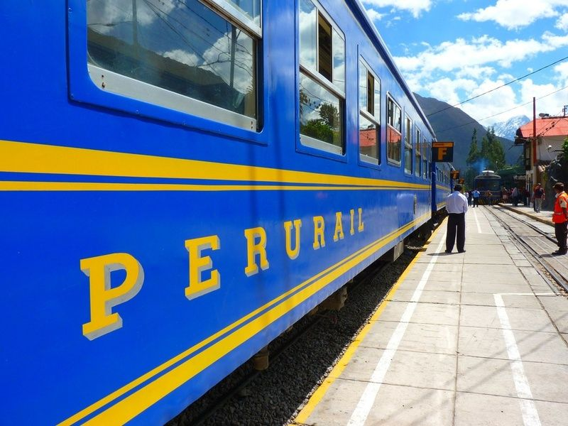 Trains are a good form of transportation in Peru