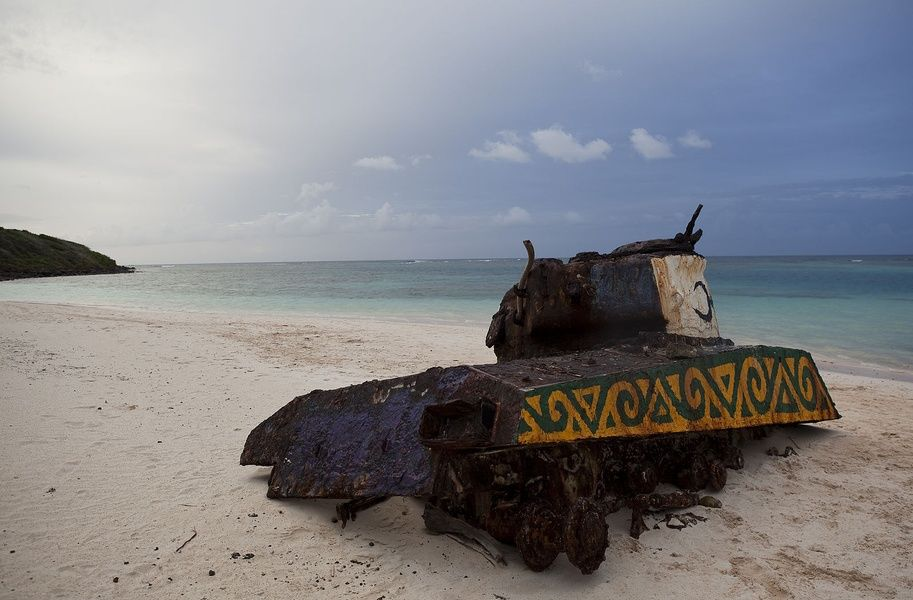 Flamenco Beach tanks Sightseeing in Puerto Rico