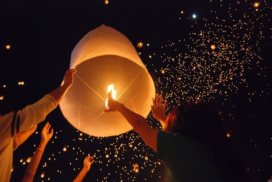 The Loi Krathong Festival is one of the best things to do in Thailand