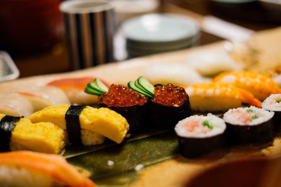 Eating sushi is one of the things to do in Tokyo at night in Japan