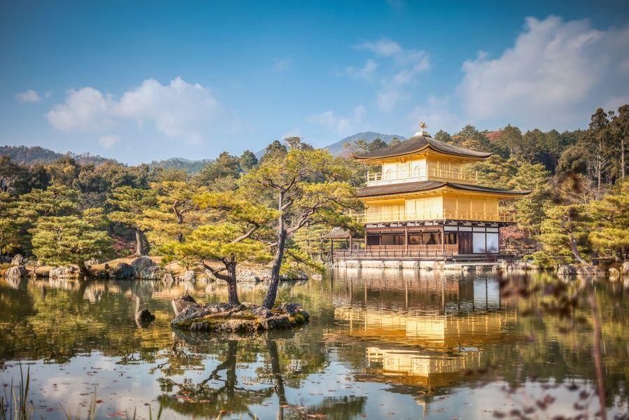 Kinkaku-ji the Golden Pavillion in Kyoto