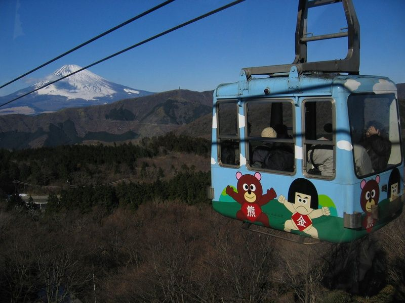 Hakone Ropeway has cable cars to active volcanoes in Japan