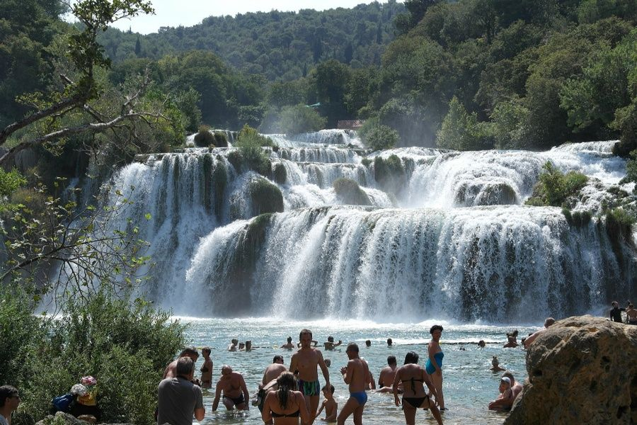 Enjoying Krka National Park is one of the best things to do in Croatia