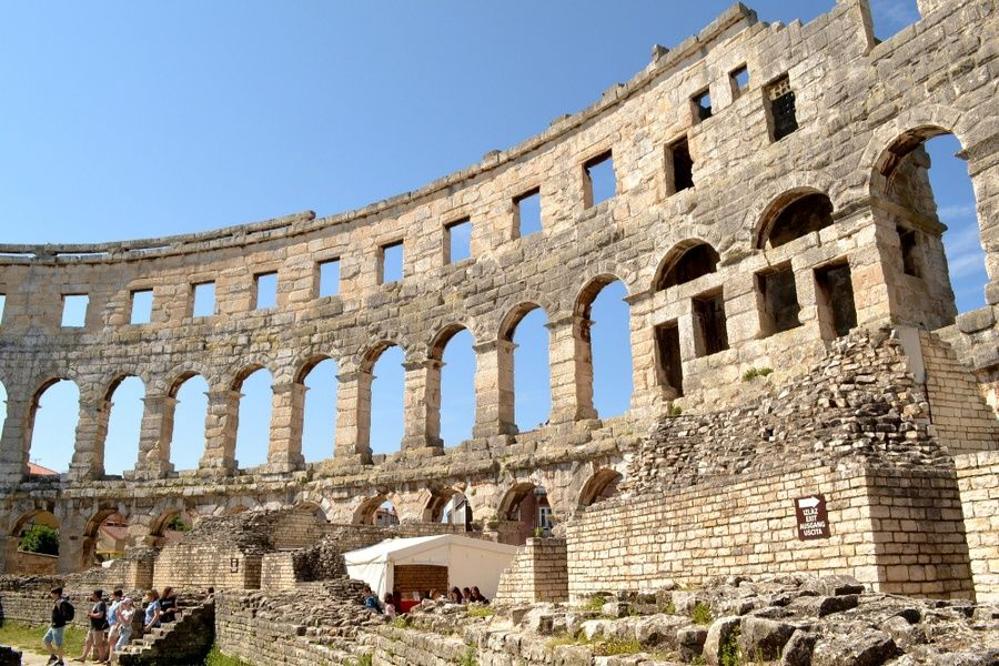 Visiting Roman ruins in Pula is one of the best things to do in Croatia