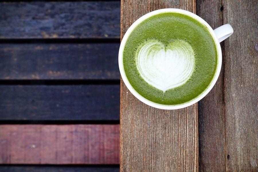 Matcha green tea in Japan
