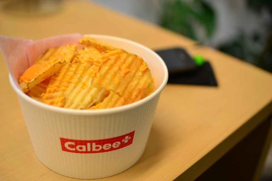 Calbee chips in Japan