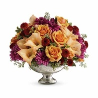 Thanksgiving flowers centerpieces luxury orange roses and gladiolus Thanksgiving centerpiece