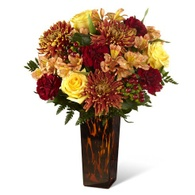 Thanksgiving flowers centerpieces yellow rose and marroon chrysanthemum centerpiece