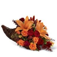 Thanksgiving flowers centerpieces Thanksgiving cornucopia floral centerpiece