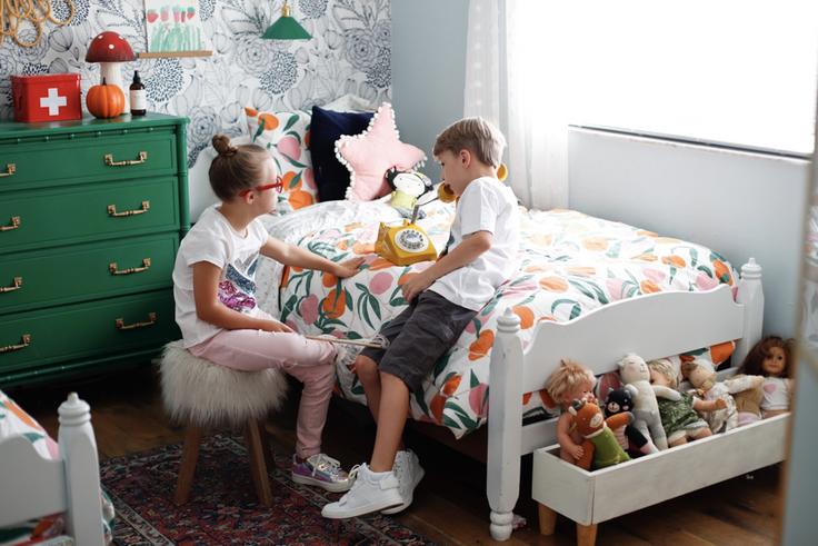 kids in bedroom