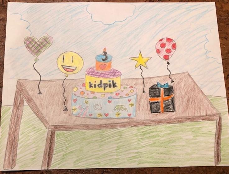 Happy birthday kidpik drawing