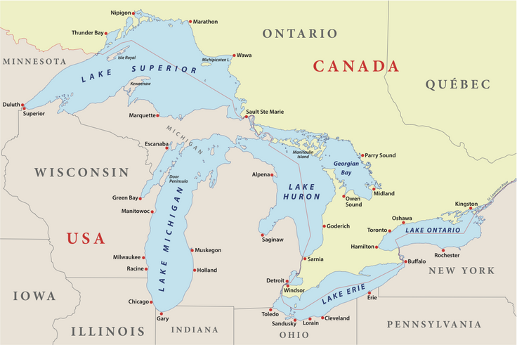 Explore the Great Lakes Map