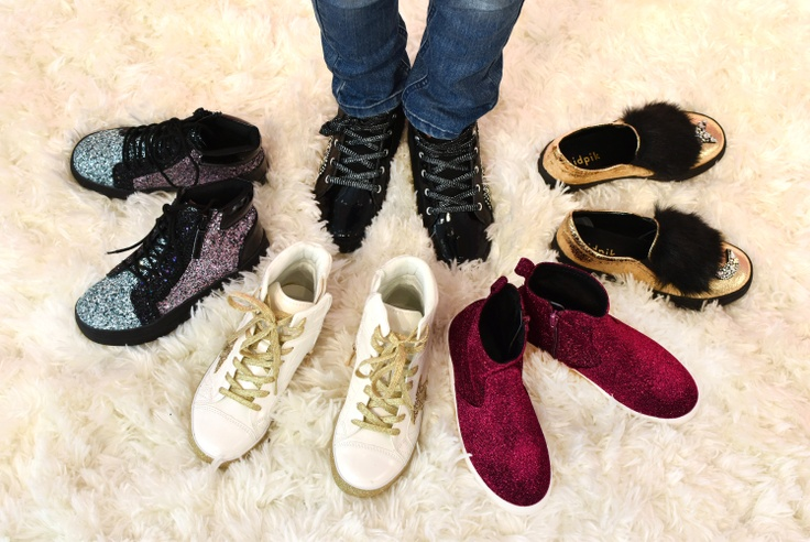 3 pairs of kidpik shoes