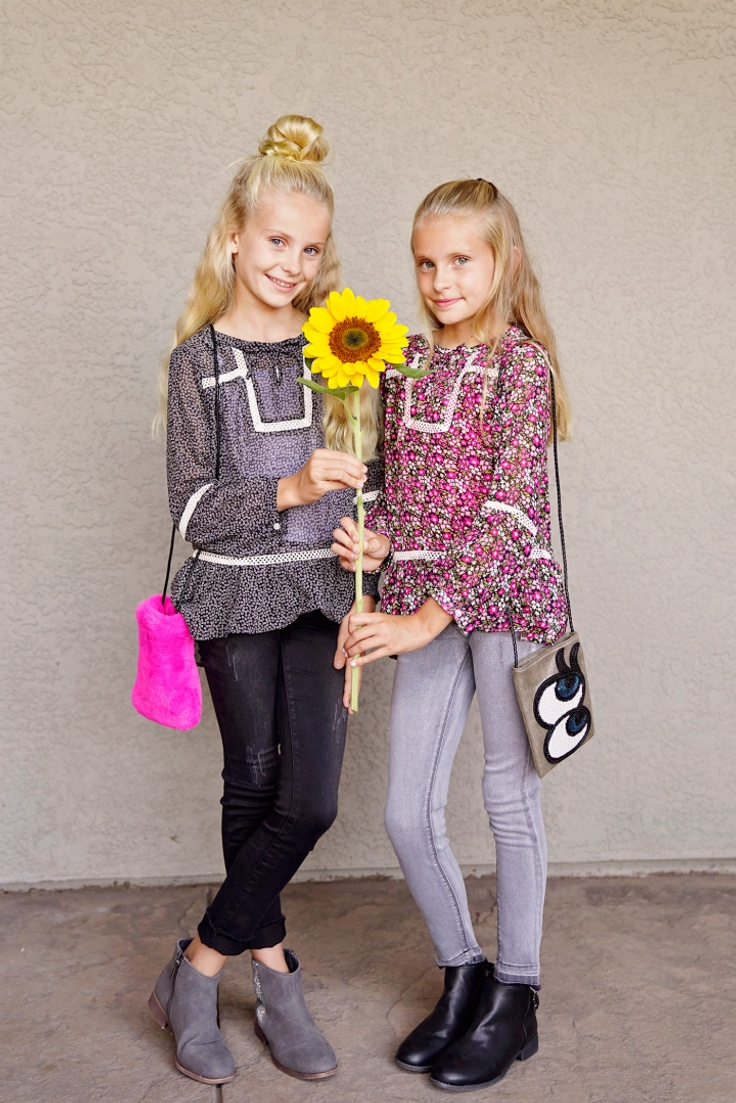 2 girls in kidpik subscription outfits