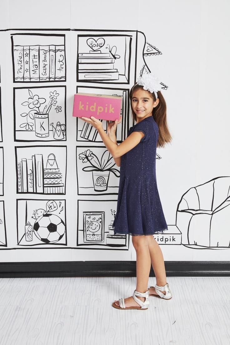 girl with kidpik subscription box