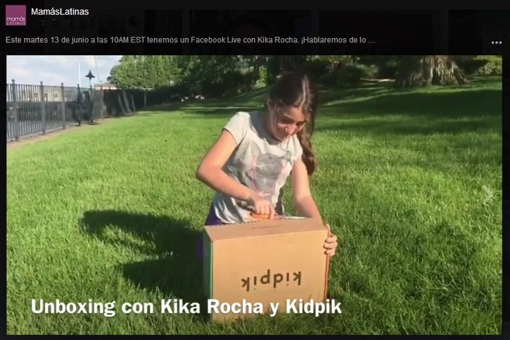 girl opening kidpik box