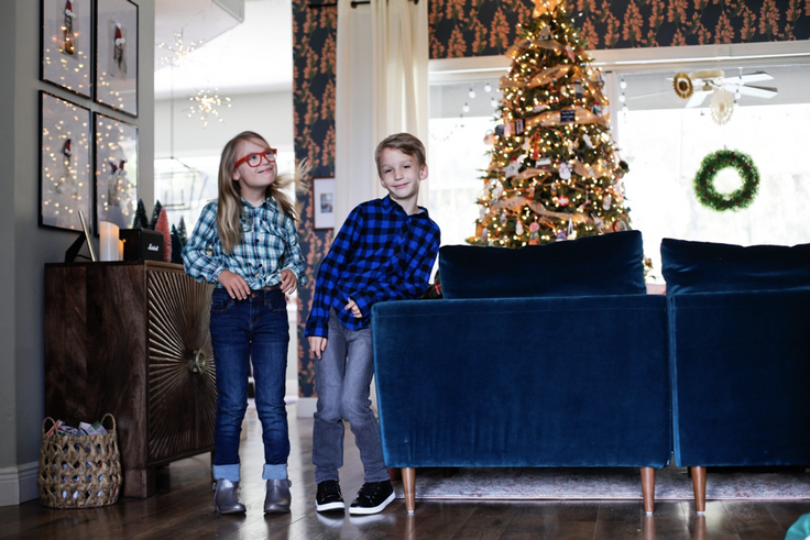 boy and girl in kidpik holiday outfits