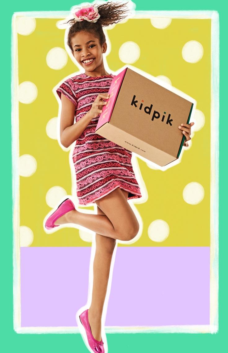 Girl with a kidpik box