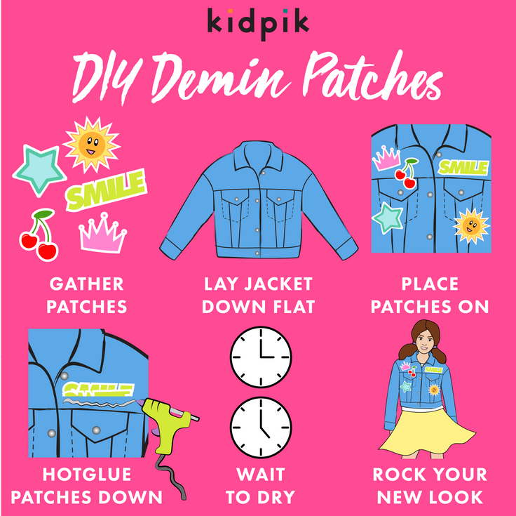 Steps to make DIY denim patches