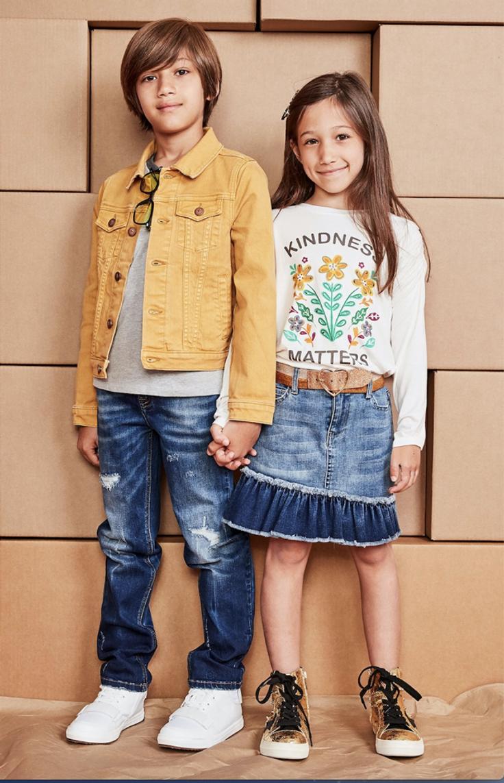 Children wearing kidpik clothes