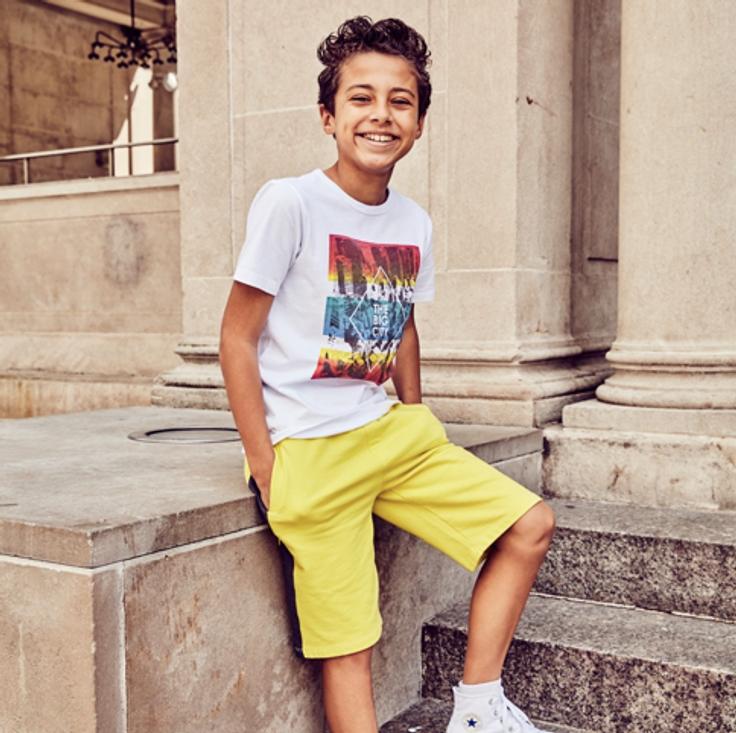 Boy in kidpik clothes