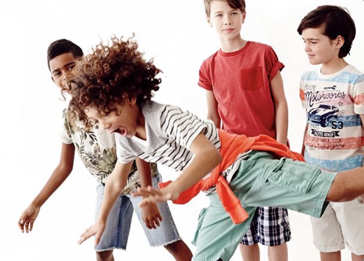 Boys in kidpik clothes