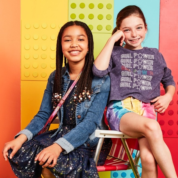 two girls in kidpik clothes