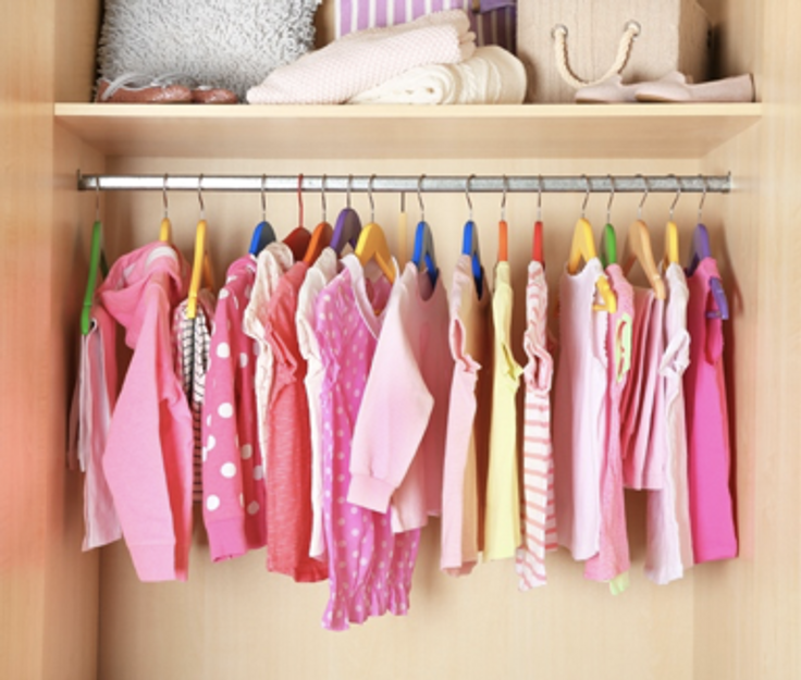 girls closet full of clothes