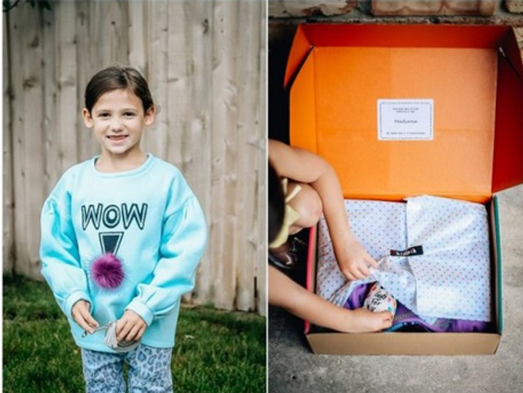 Girl and kidpik clothing box