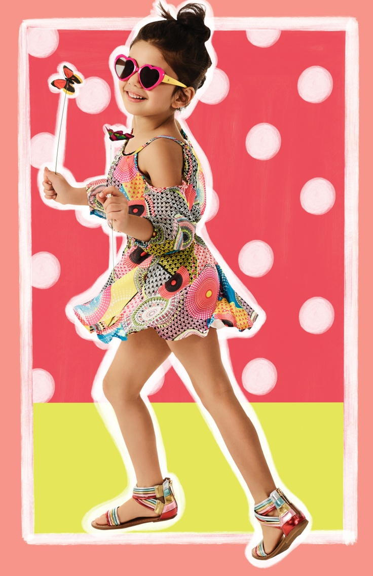 Girl in a spring dress