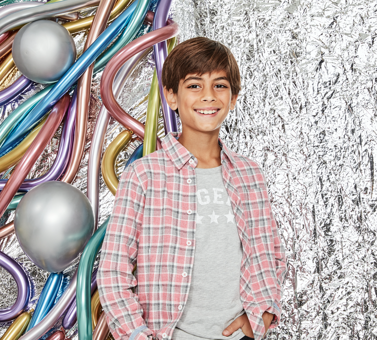 boy in subscription clothes