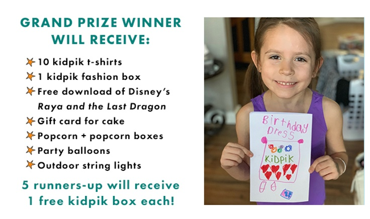 Prizes for kidpik's 5th birthday contest