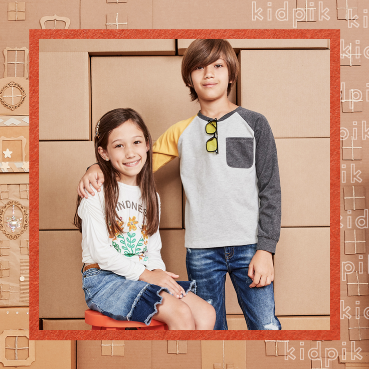 Children in kidpik styled outfits