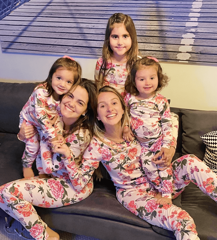 kids with moms in kids clothes
