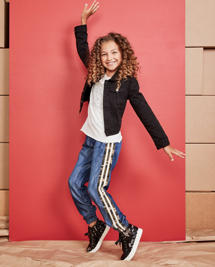 kidpik outfit with denim