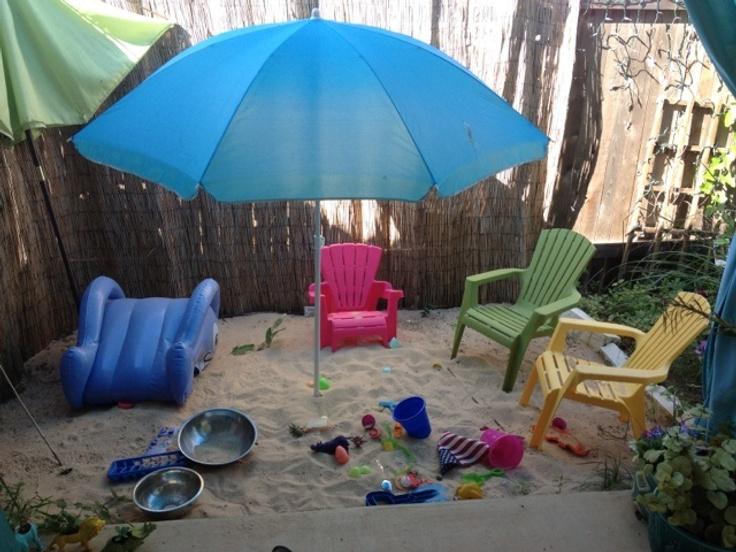DIY Backyard Beach