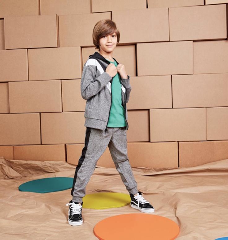 Boy in kidpik outfit