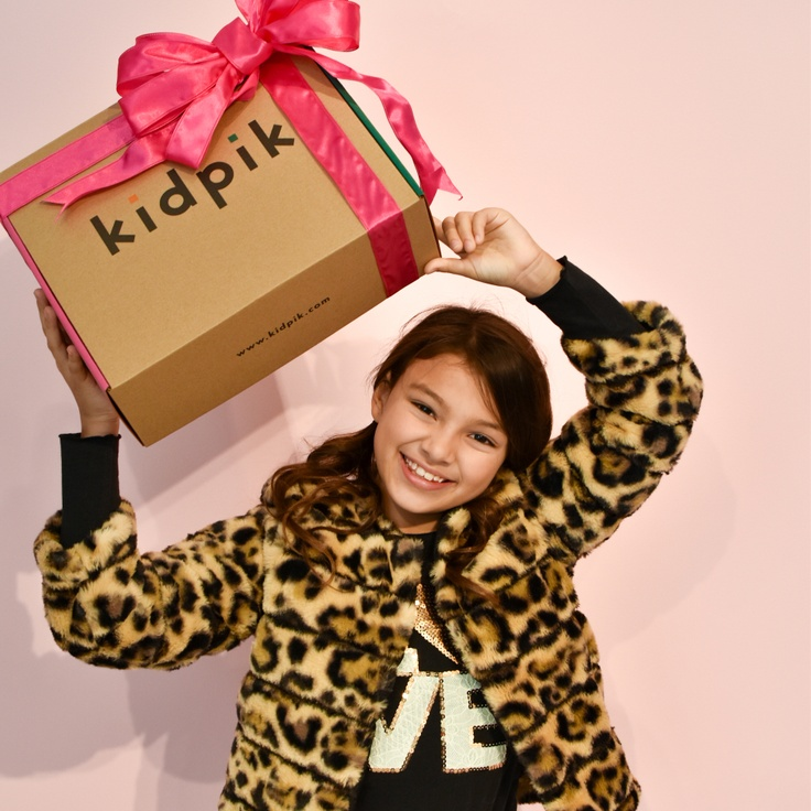 girl with kidpik monthly clothes box