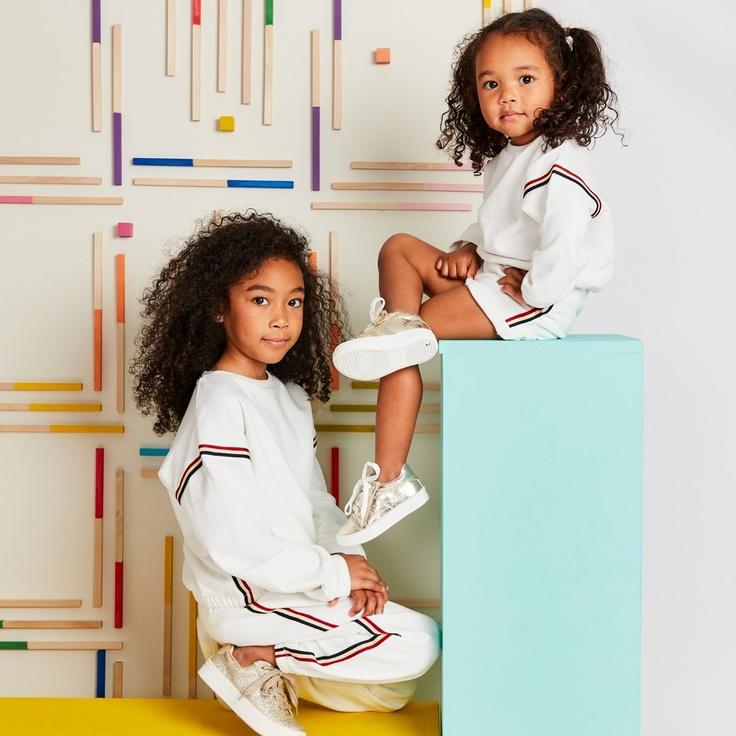 two girls wearing kidpik clothing
