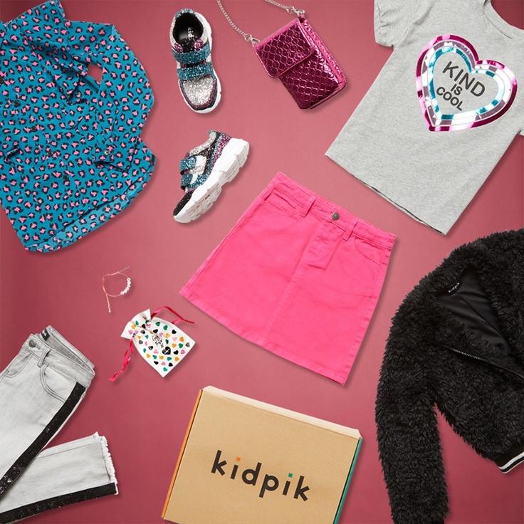 Laydown of kidpik clothes