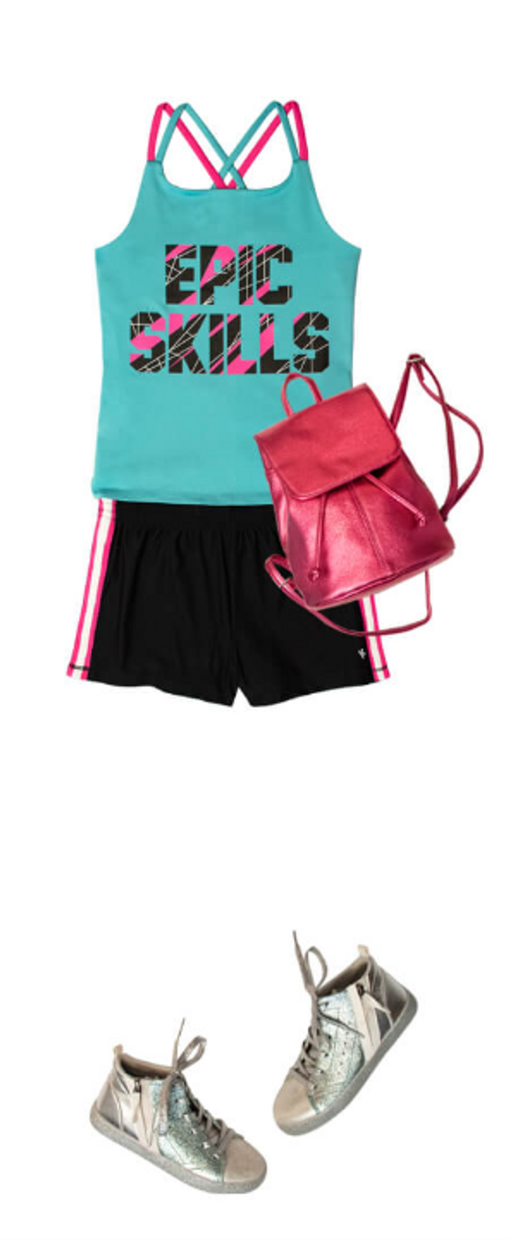 tank top with matching shorts, shoes ...
