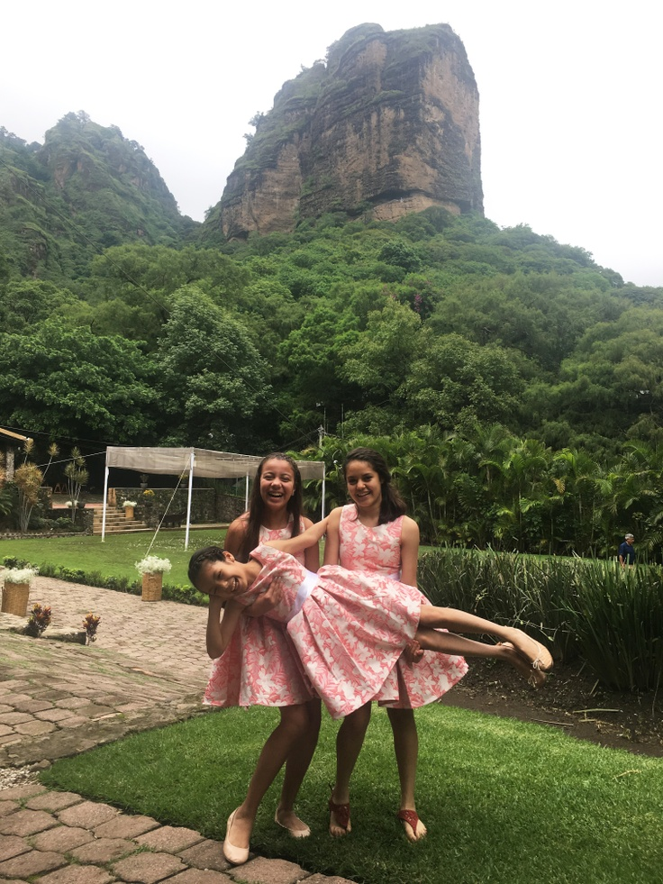 Flower Girls with Mountain Background