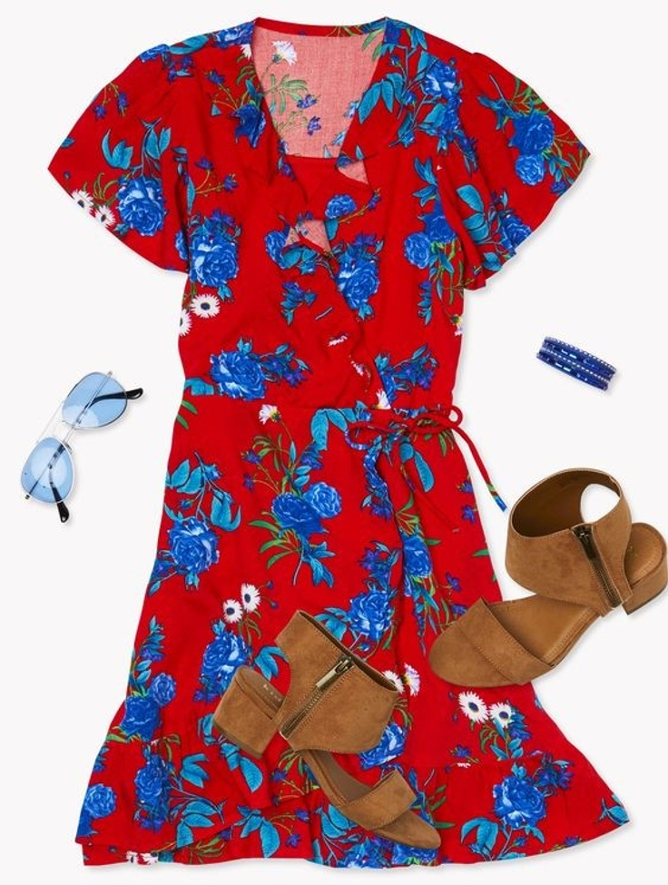 wrap-dress-and-flats-outfit-for-girls...