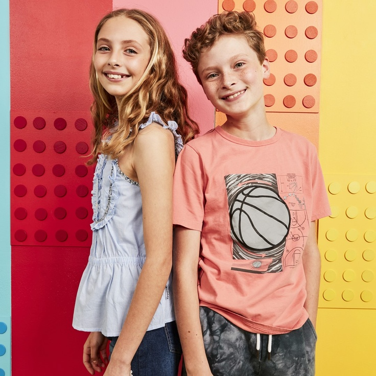 boy and girl in subscription clothes