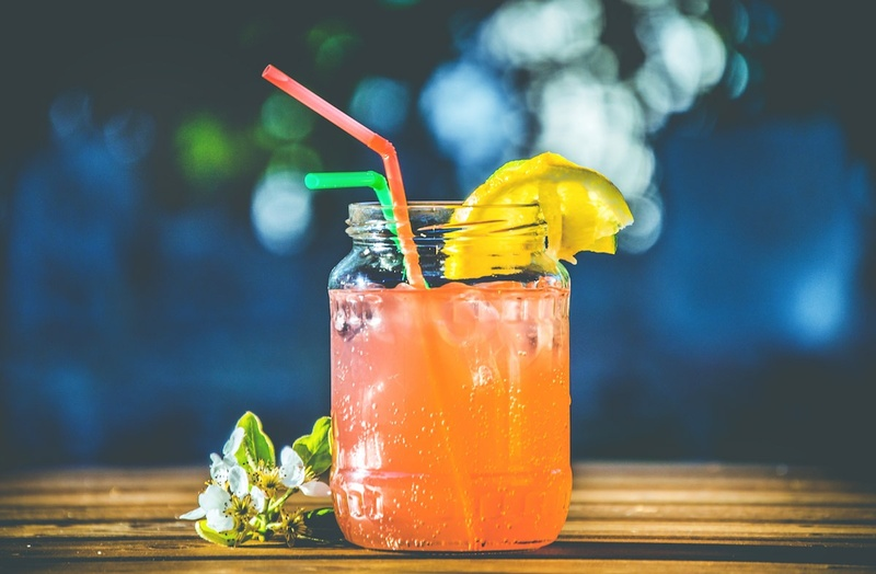 A beautifully prepared tiki-themed cocktail