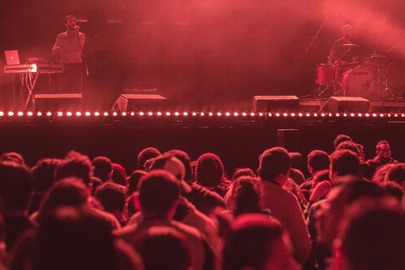 Concert in music venue in Boston