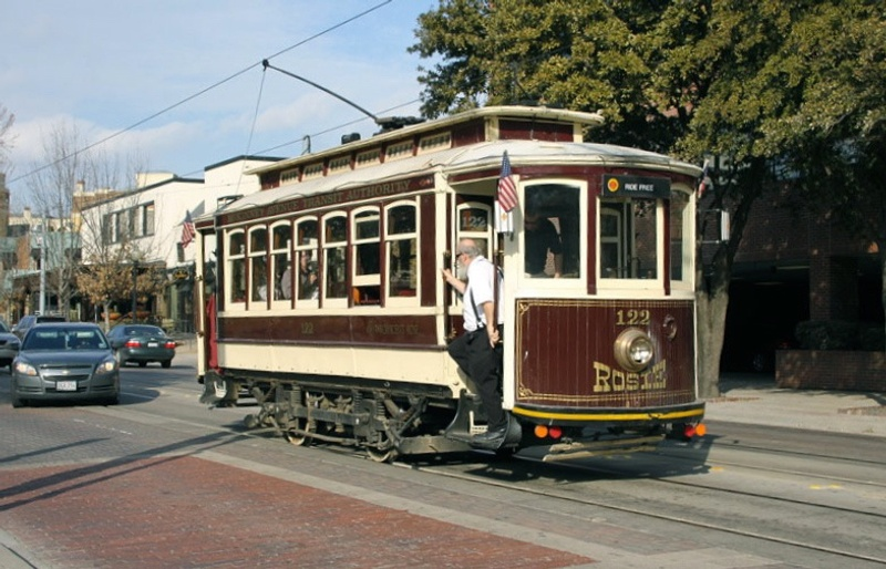 Historic McKinney Ave trolley in Dallas