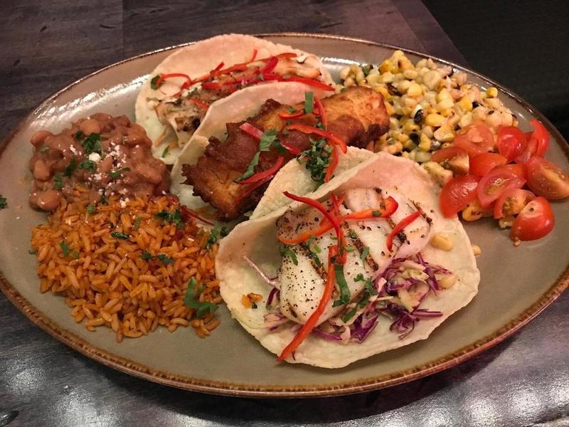 baja tacos at Bandito Latin Kitchen and Cantina